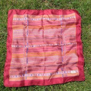 Liberty Of London Vintage Red Silk Stripe Scarf 23